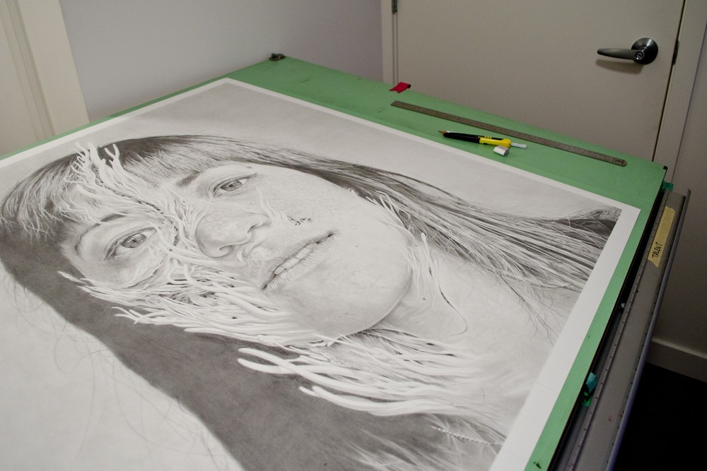 Preparing  Hana II  for framing in a tiny Vancouver apartment.