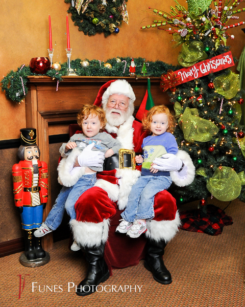 Noah and Abigail with Santa 2013