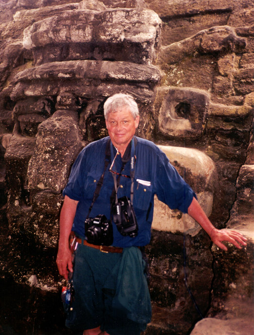 Tony Paterson in Tikal, Guatemala; Self-Portrait by Tony Paterson