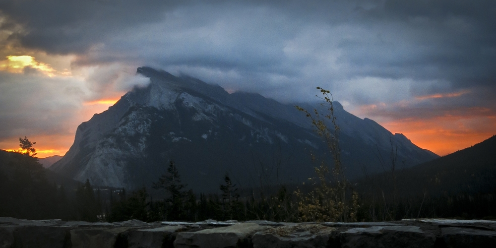 Weather and basic demands of life can often get in the way of ambitions to send epic projects in the high country. Banff's Mount Rundle in LOTR­esque conditions.