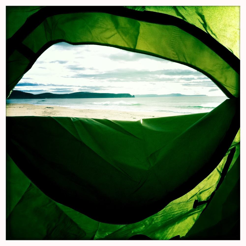 camping on bruny
