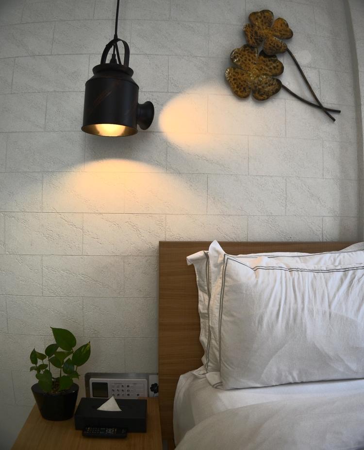 Bedroom Brick Effect Wall Special Textured Stucco Travertino Romano Oikos By Italian Design Center Pte Ltd