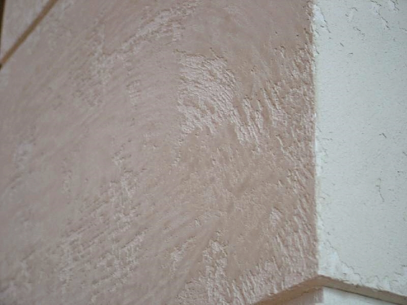Pillar Corner Close Up Brick Effect Wall Special Textured Paint Travertino  Romano Oikos By Italian