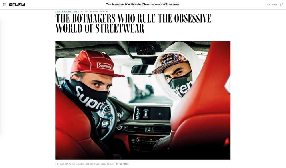 THE BOTMAKERS WHO RULE THE OBSESSIVE WORLD OF STREETWEAR - Wired Magazine