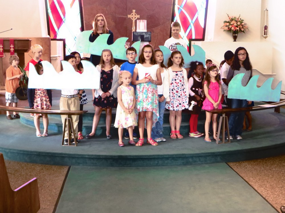 Kid's Choir Singing on Sunday School Rally Day