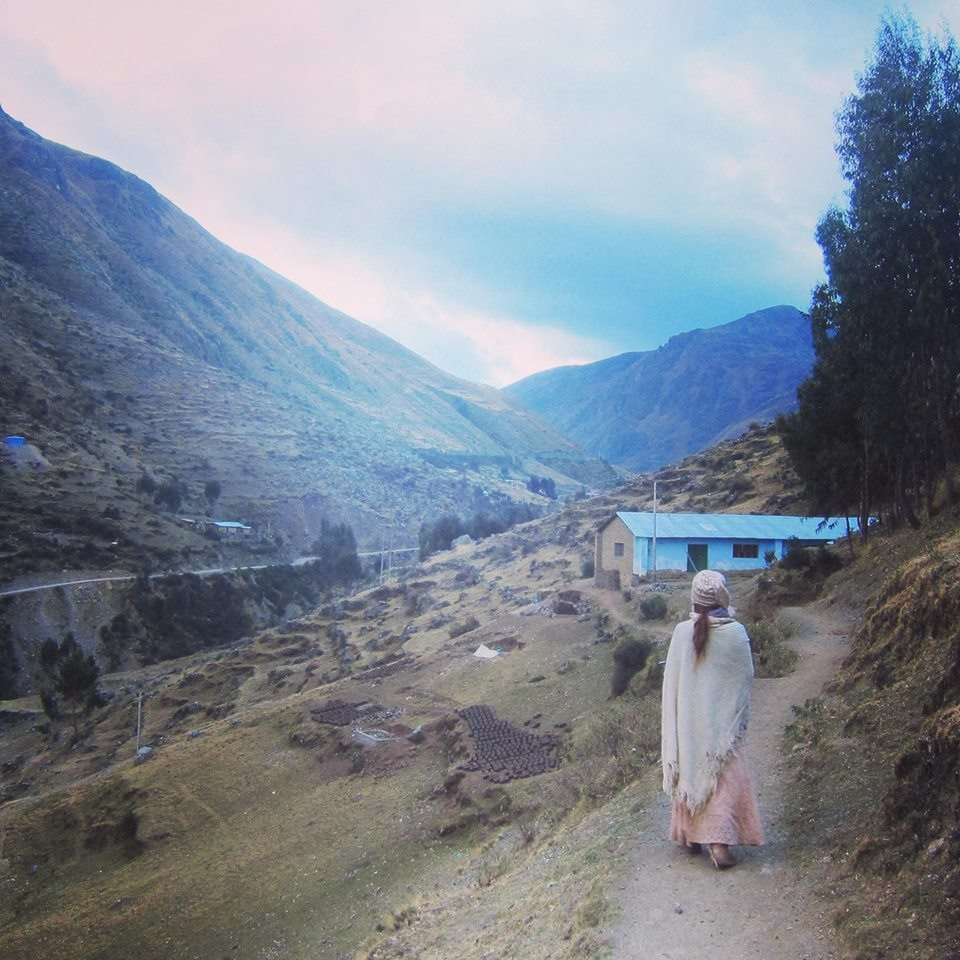 walking through the Patacancha community in Peru, 3800 meters high