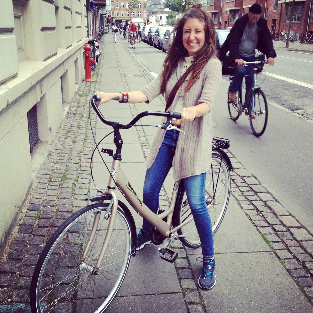 yess! happiness after finally finding a bike with a seat low enough for me! (Copenhagen)