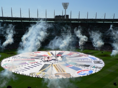 AFL Flags Grand Final Day