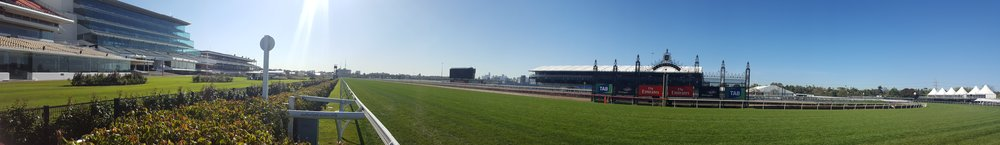 This photo was taken 3 weeks prior to The Melbourne Cup. Flemington Race Course is shining, wouldn't you agree?