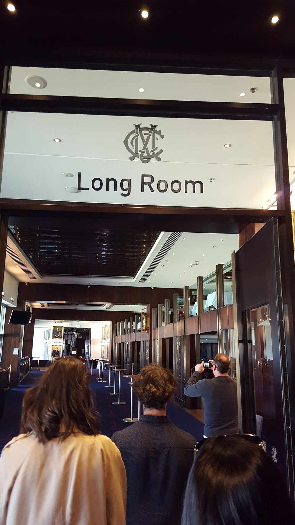Walking into The Long Room at The MCG on tour with Melbourne Sports Tours