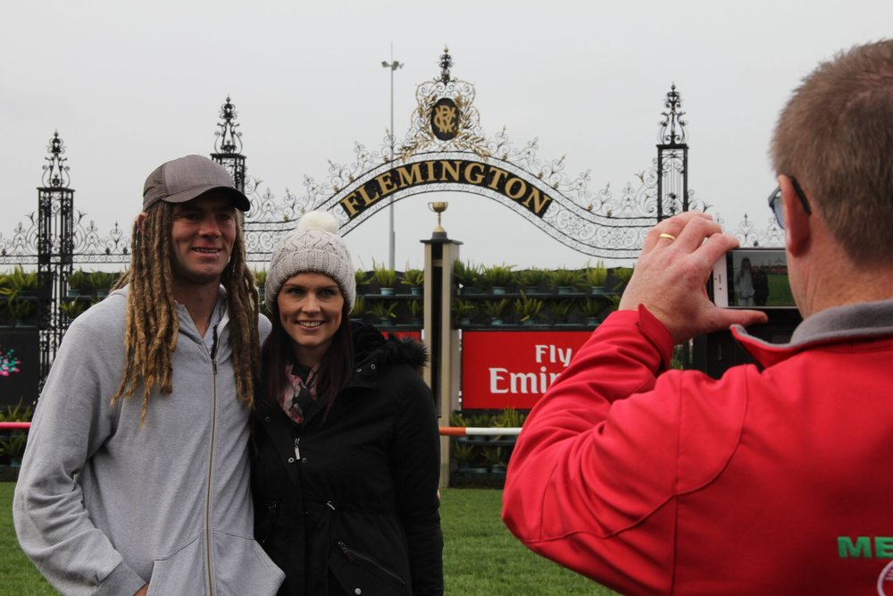 Flemington Racecourse finish line photo