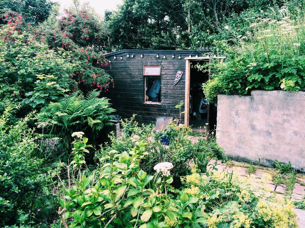 Fiona's garden studio.