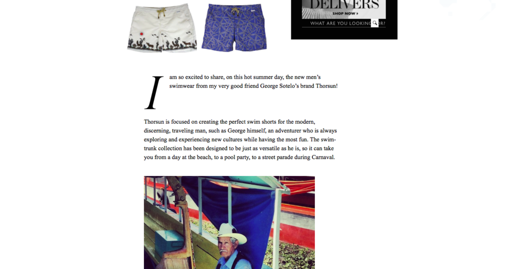 Style.com, Vogue, Swim Shorts Via Savile Row How Thorsun Plans to Up the Trunks Game, Thorsun, Thorsun Swim