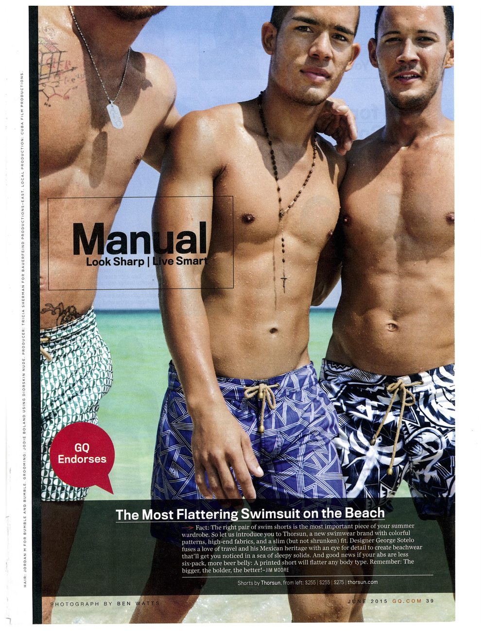 GQ, GQ Magazine, The Most Flattering Swimsuit on the Beach, Thorsun, Thorsun Swim