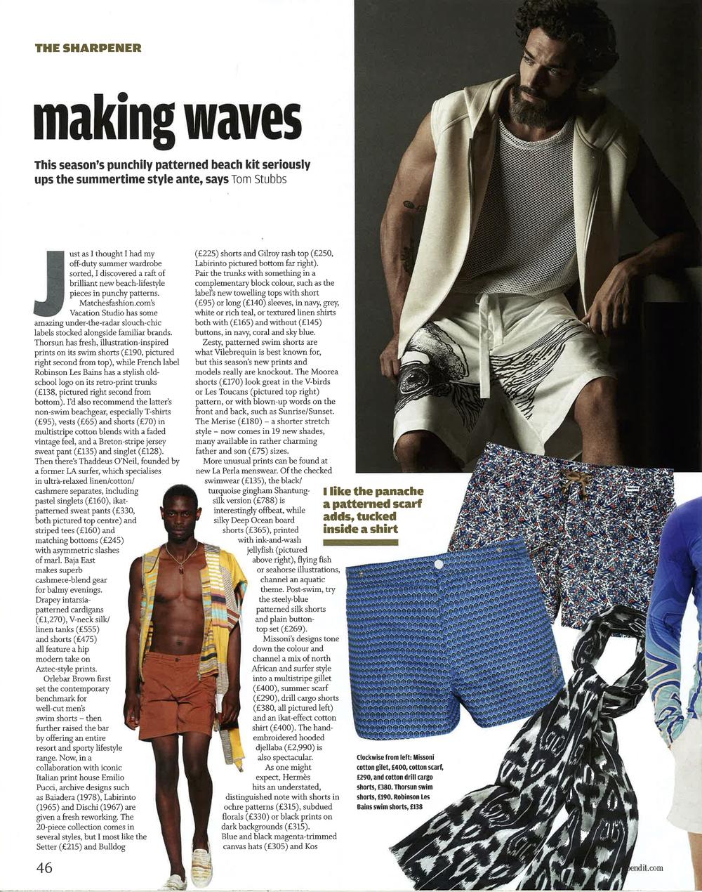 Financial Times, Financial Times: How To Spend It, June2015,Swimwear, Thorsun, Thorsun Swim