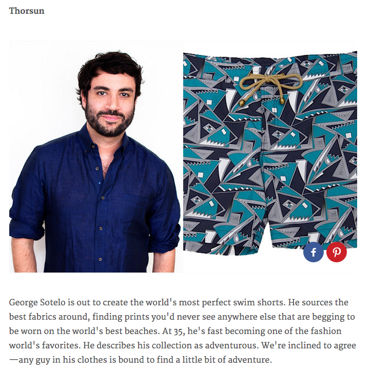 GQ, GQ Magazine, 10 Need-to-Know Designers Making Waves Right Now, Thorsun, Thorsun Swim