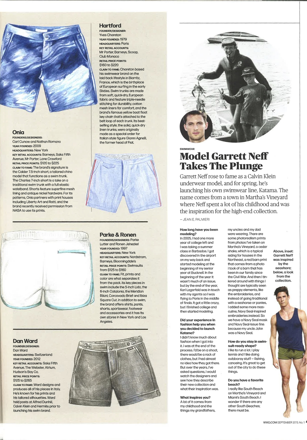 WWD, WWD Magazine, Women's Wear Daily, September 2015, Pure Play, Thorsun, Thorsun Swim