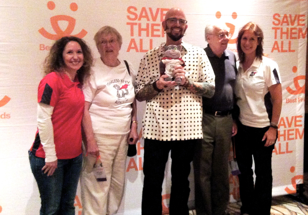 Some of the FKR gang, along with Supa Kitty, meet Jackson at the Best Friends' conference in Las Vegas!