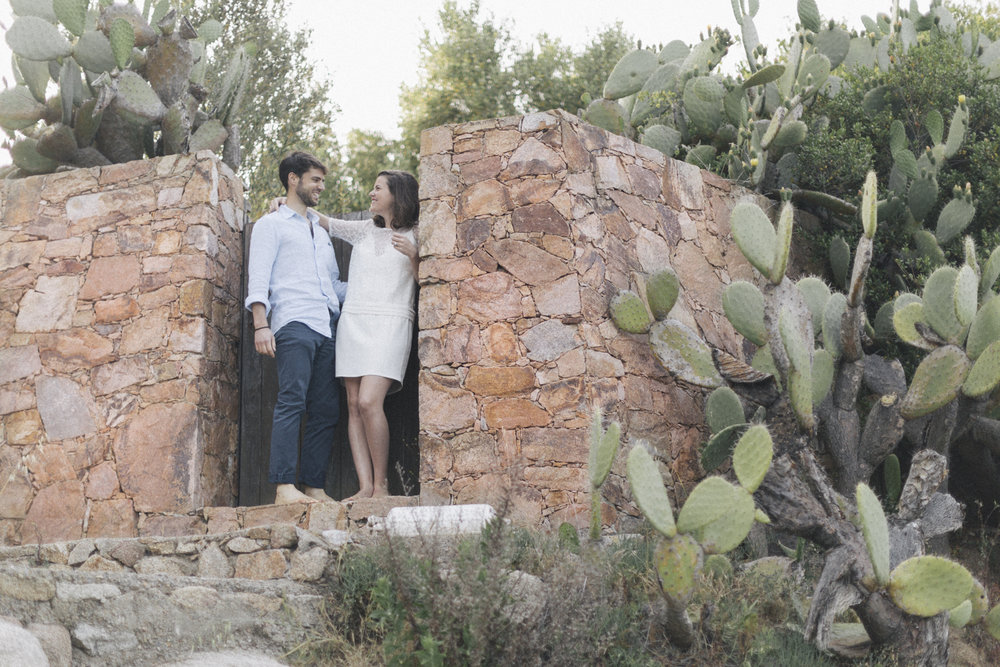 Aurélie & Iniaki - Engagement session in Corsica Island