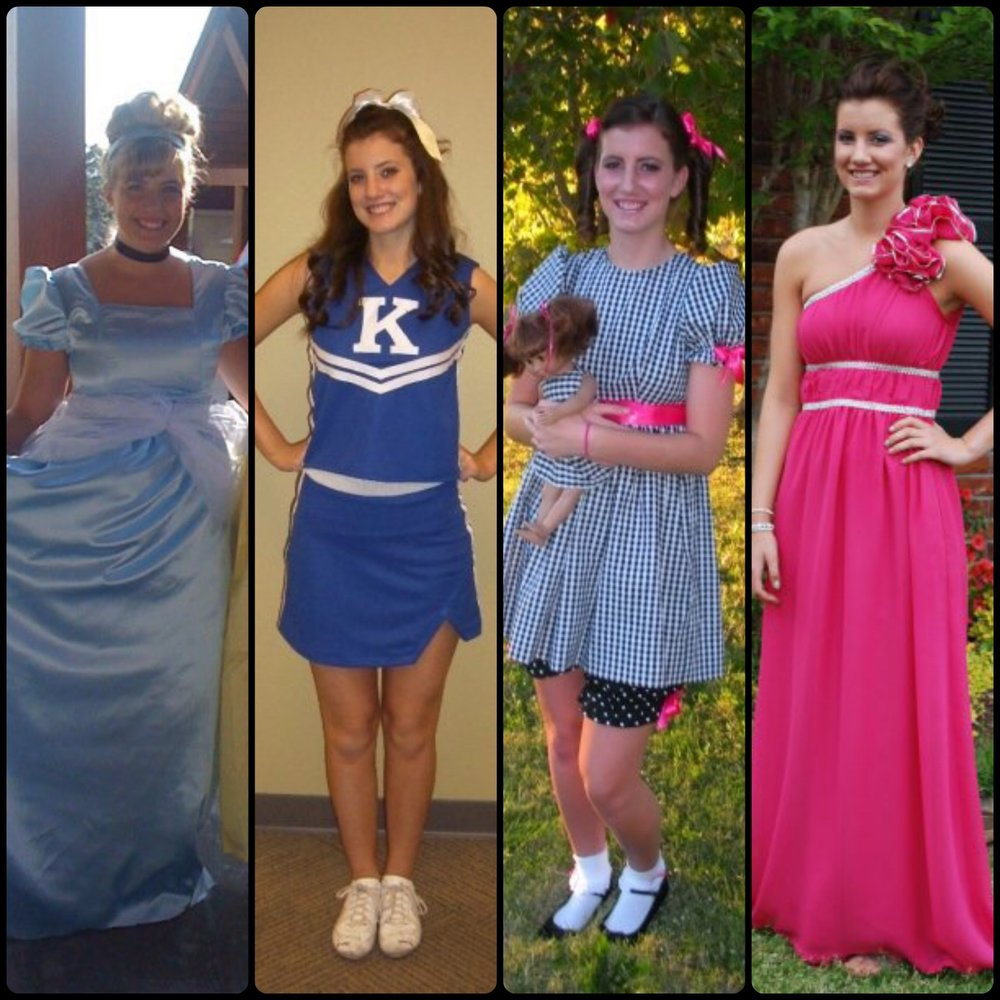 Outfits I sewed through the years.