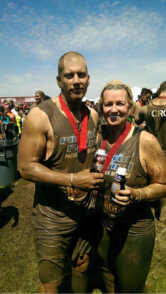 Scott and I after finishing The Warrior Dash