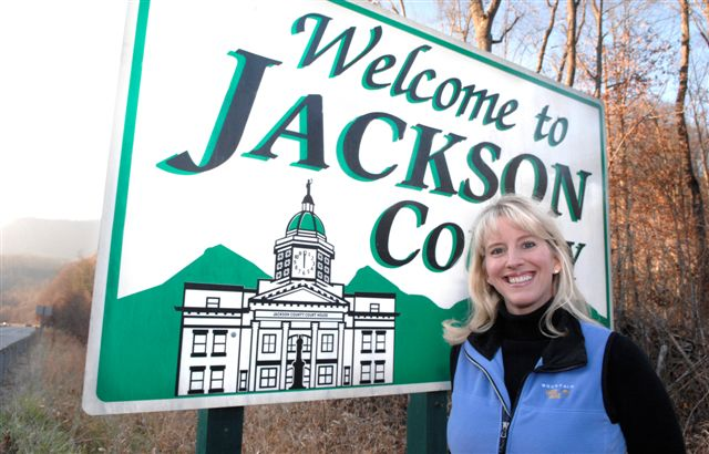 Tourism director Julie Spiro welcomes folks to Jackson County