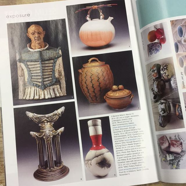 We are so thrilled to have been featured in @ceramics_monthly - come out and see @fong.choo.5 John Bauman, Joe Frank McKee and 40 others in just a week!