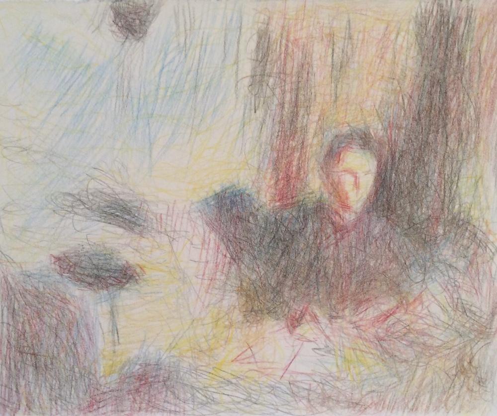 Desenho de aluna a partir de pintura