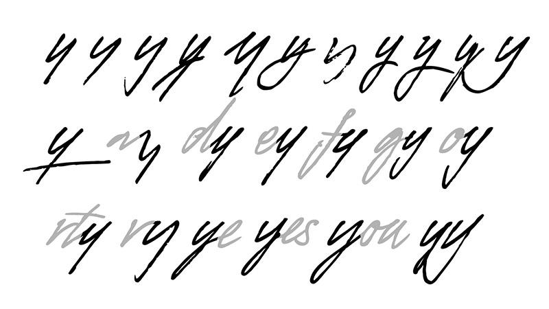 Mr. Porter 會依照不同連接的字母和順序而有不同的設計