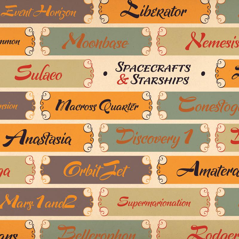 Supernova 運用特別設計的 Poster style 來營造 lettering 的躍動感