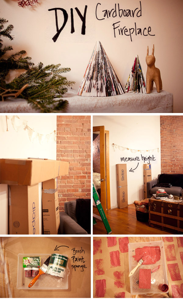 Diy Cardboard Fireplace Mantle Parker Etc