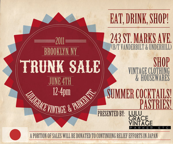 TRUNK SHOW Official Invite PARKER ETC