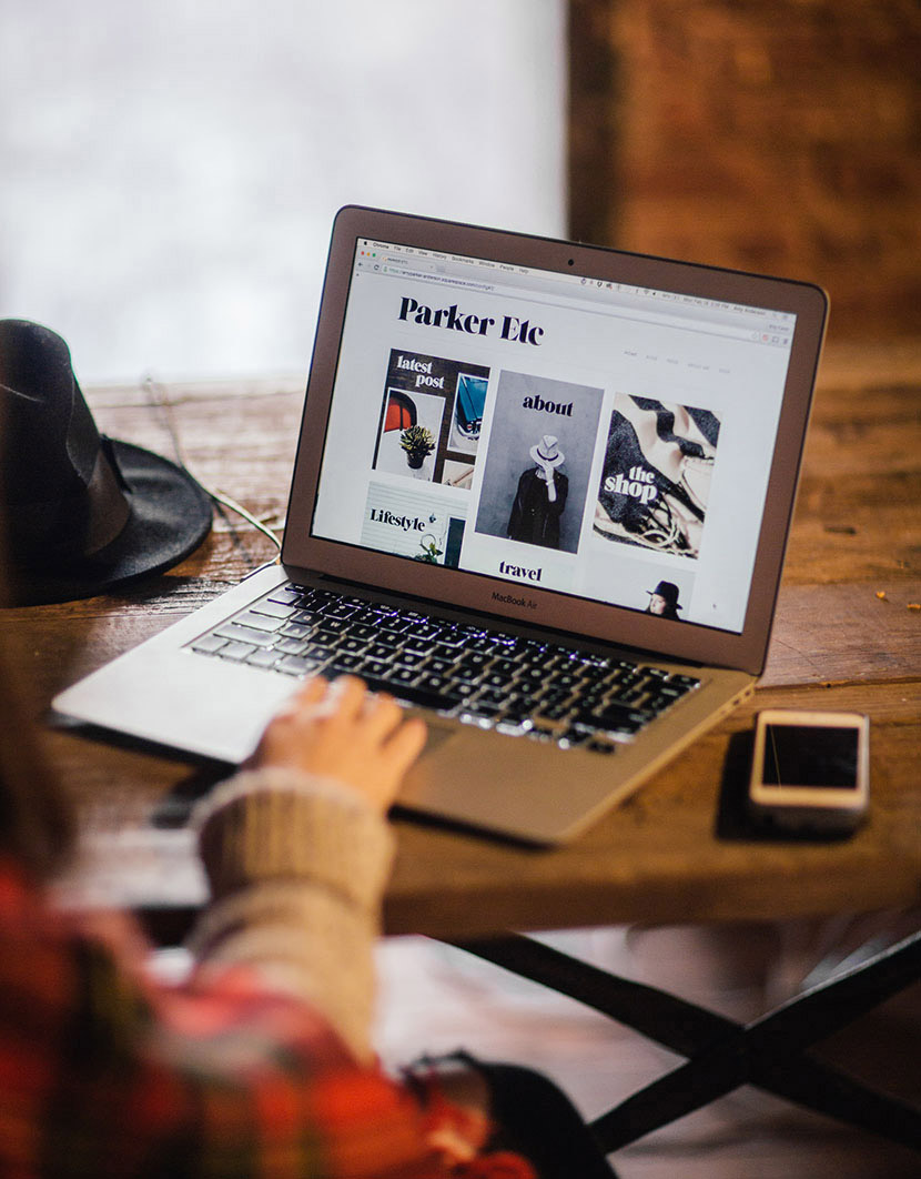 parker etc amy parker anderson blog redesign squarespace