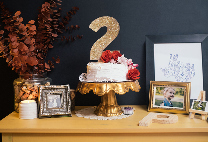 gold floral birthday party floral cake parker etc amy parker anderson kids birthday party ideas
