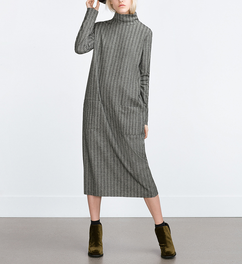winter zara dress holiday outfit
