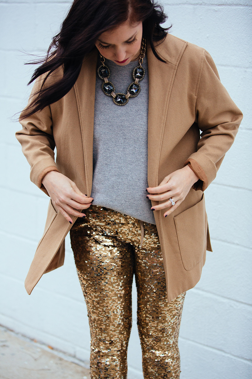 how to wear sequins pants