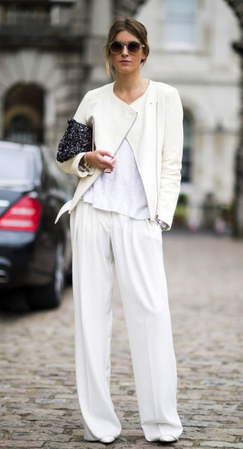 all white spring outfit fashion
