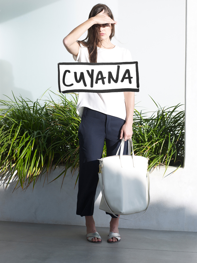 cuyana fashion leather bag