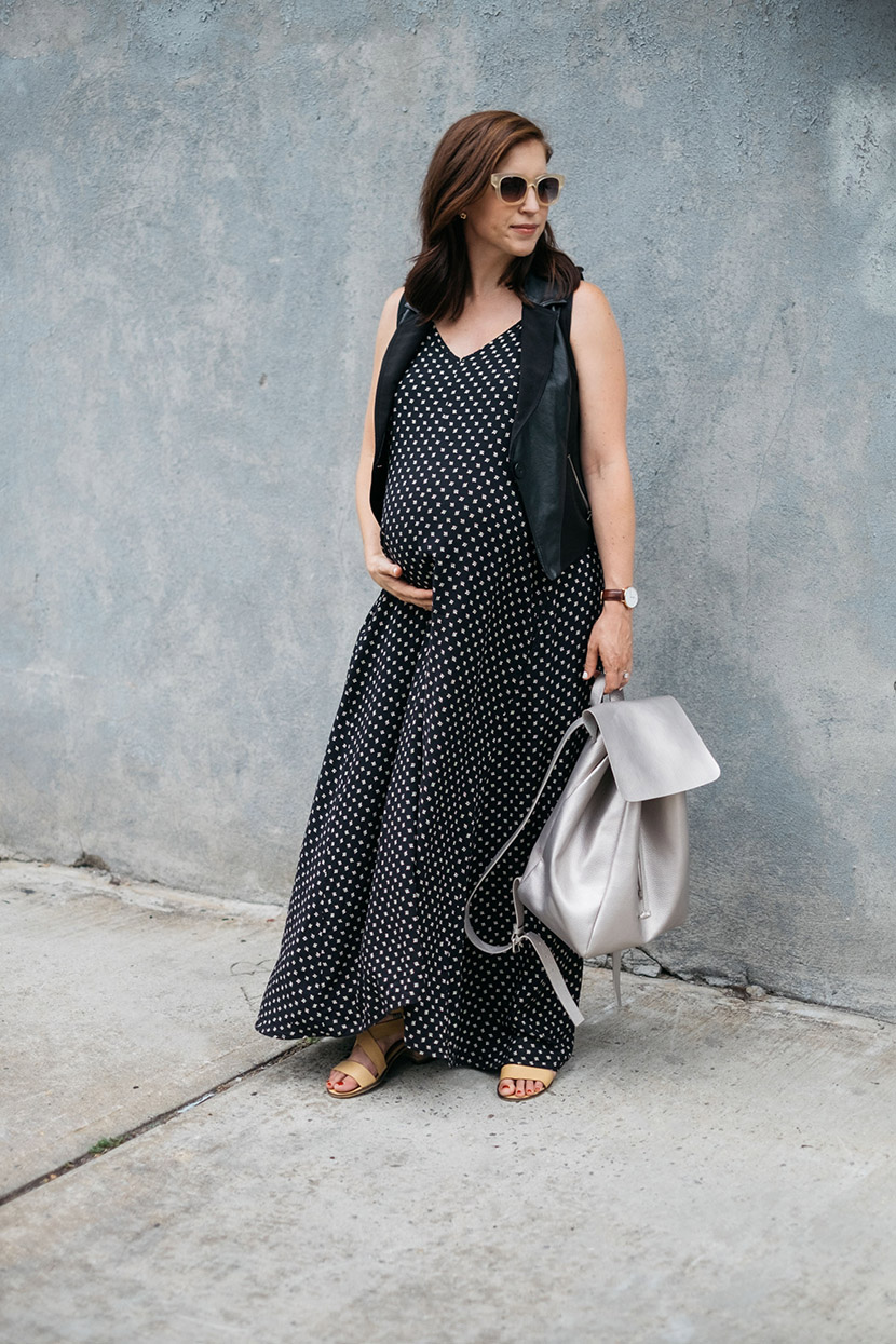 maternity fashion maxi dress