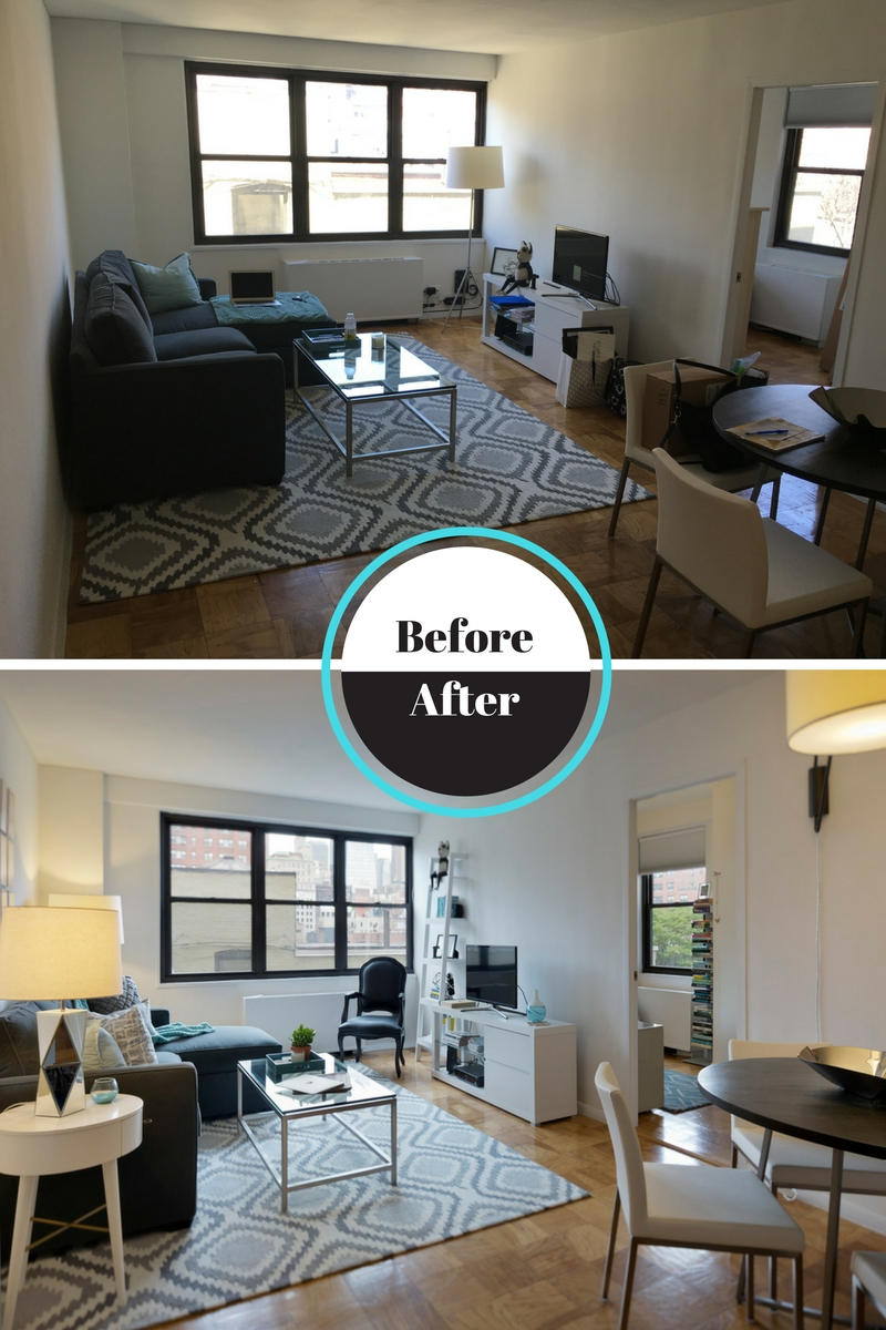 Before & After Playbill Living Room