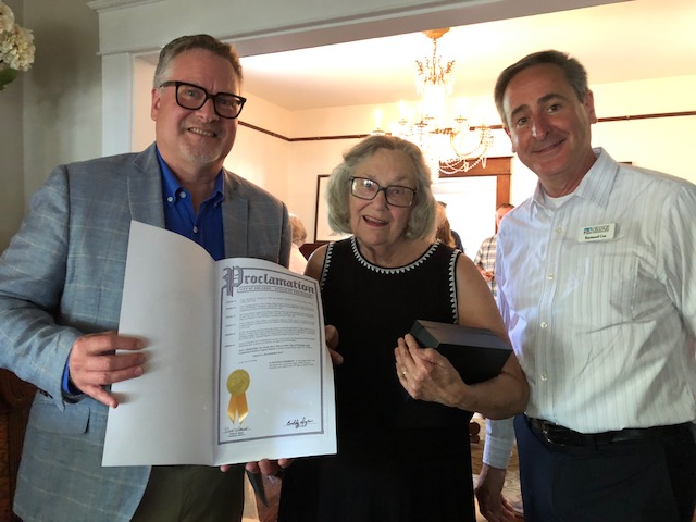 City of Orlando Grace Hagedorn Day Proclamation  (Richard Forbes,l, Grace Hagedorn,c, Raymond Cox,r.)