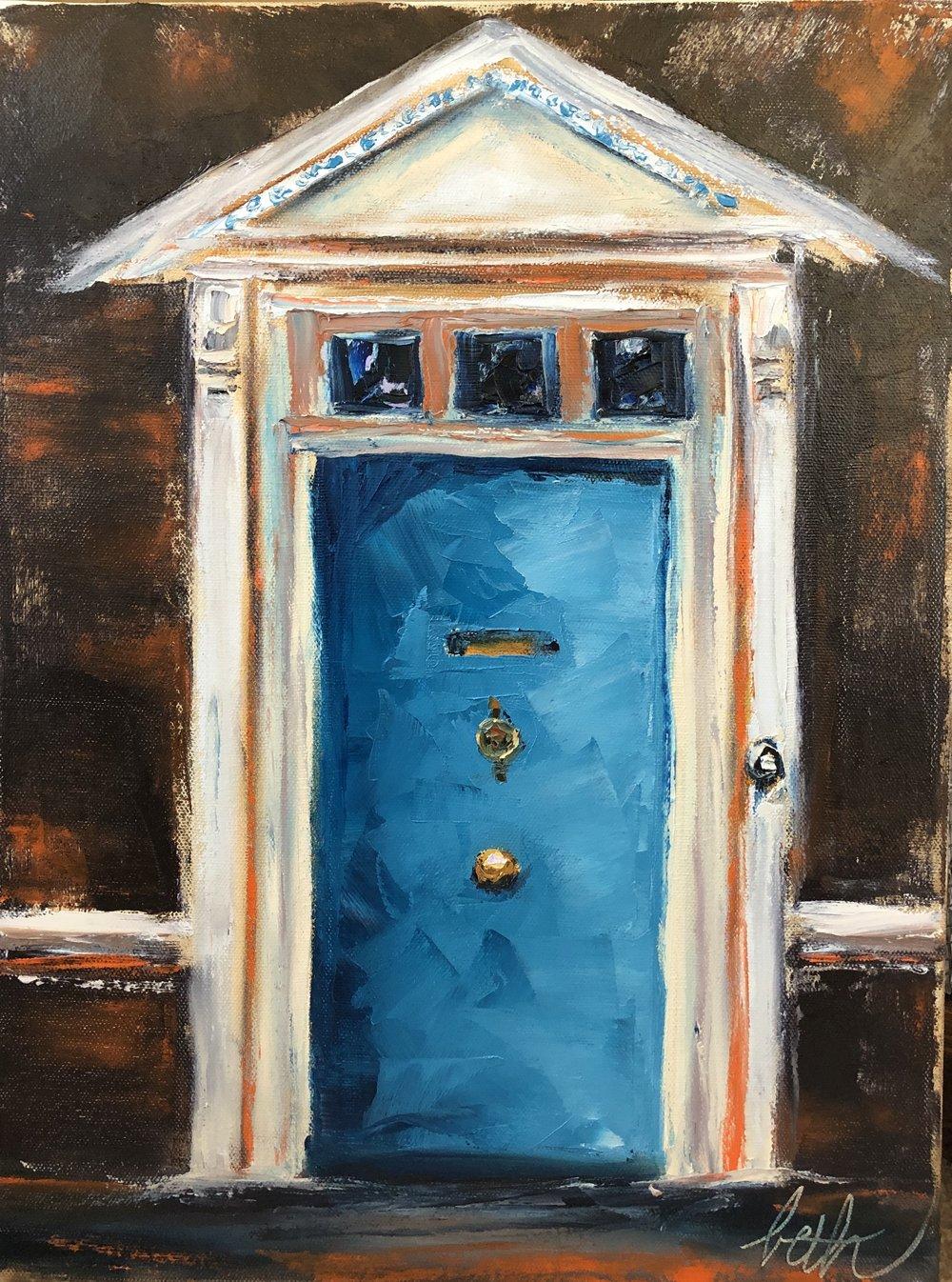Blue Door at Tower Bridge
