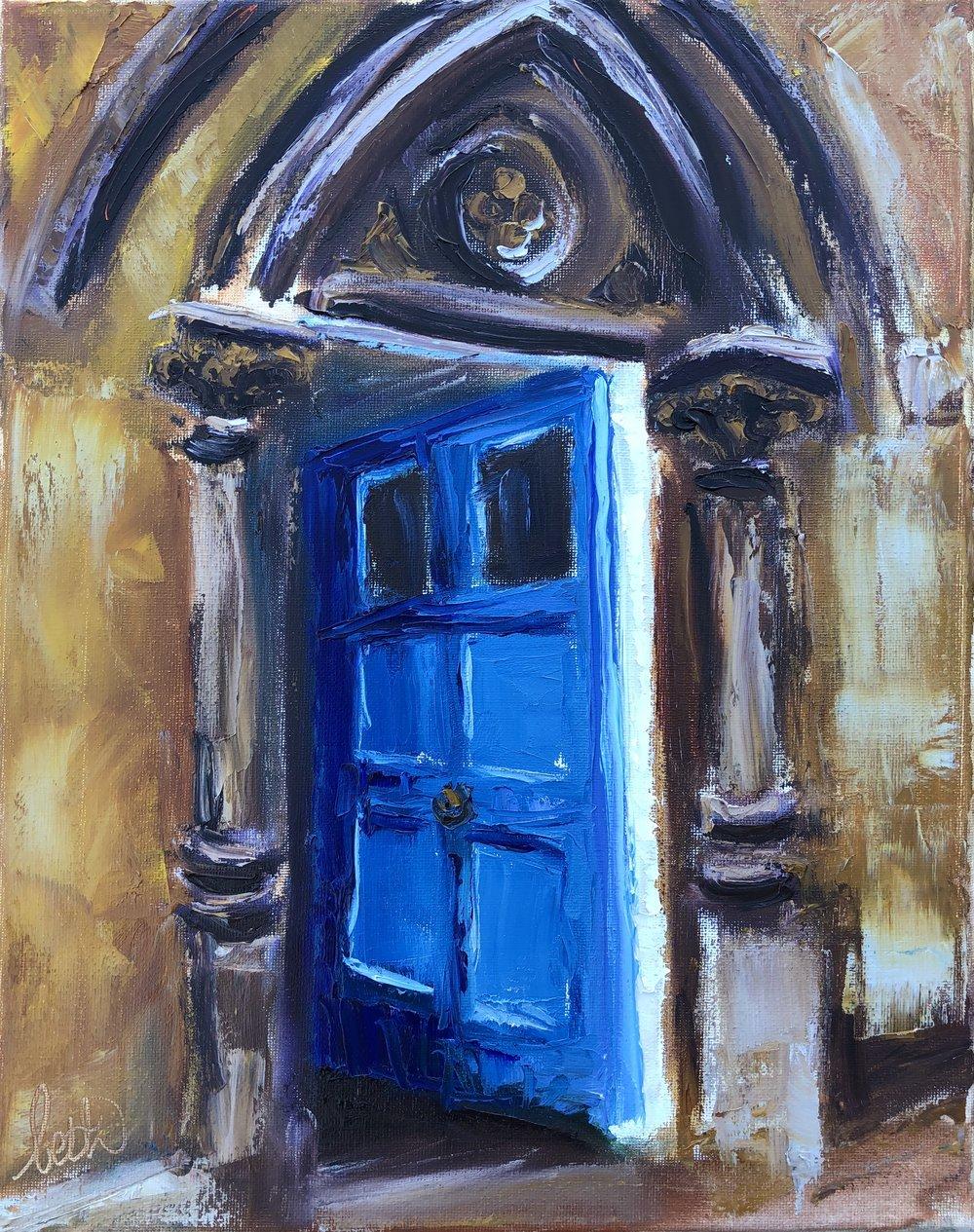 Open Blue Door at Oxford
