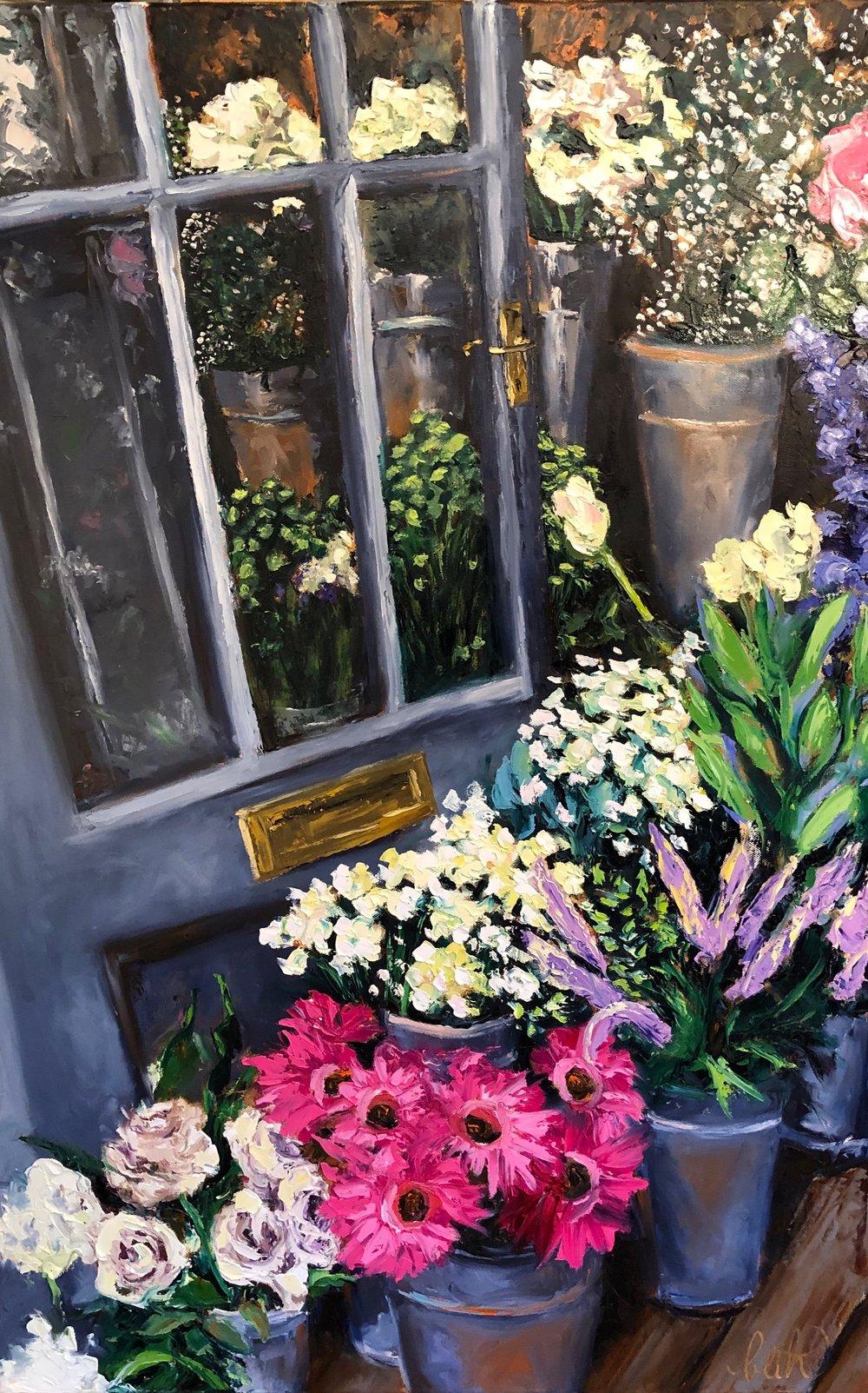 Flower Shop Door at River Avon