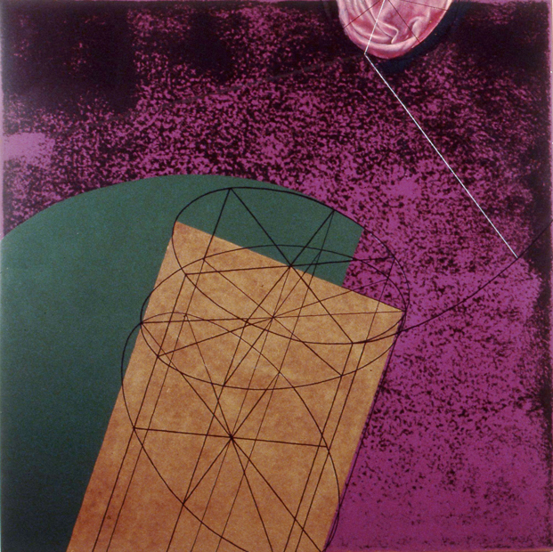 "The Iliad 1, 48""x48"", acrylic on masonite, 1998"