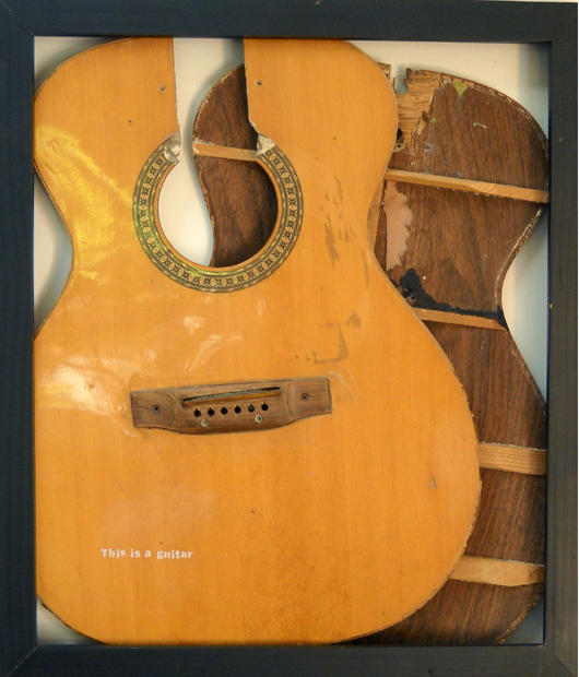 "This is a Guitar, 24""x18"", guitar, 2007"