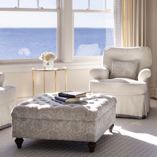 Remembering one of my favorite projects on this cold winters day! . . . . . . . . . . #capecod #seaview #scalamandre #pindler #robertallen #bespoke #sunshine #interiors #interiordesign #blueandwhite