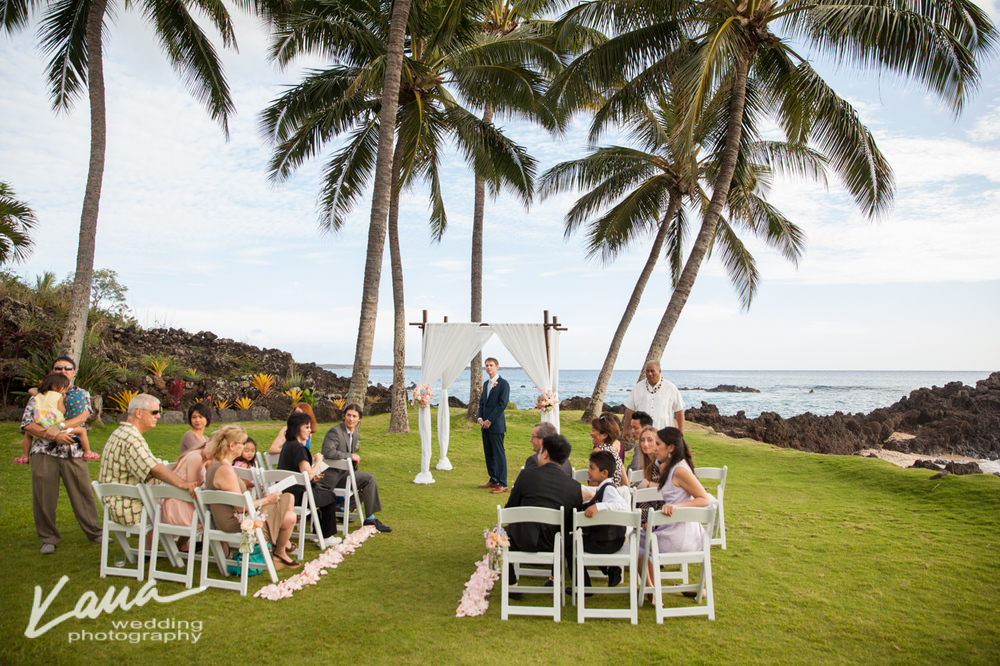 Kaua Wedding Photography:  White Orchid Wedding beach house
