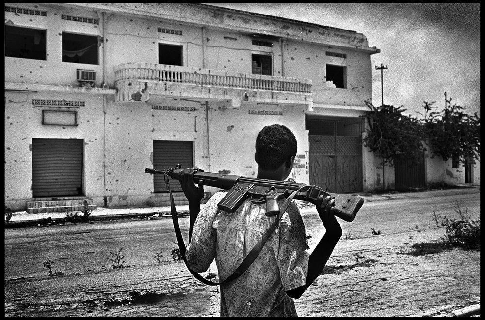 Tonfic, the clan frontline, Mogadishu, Somalia