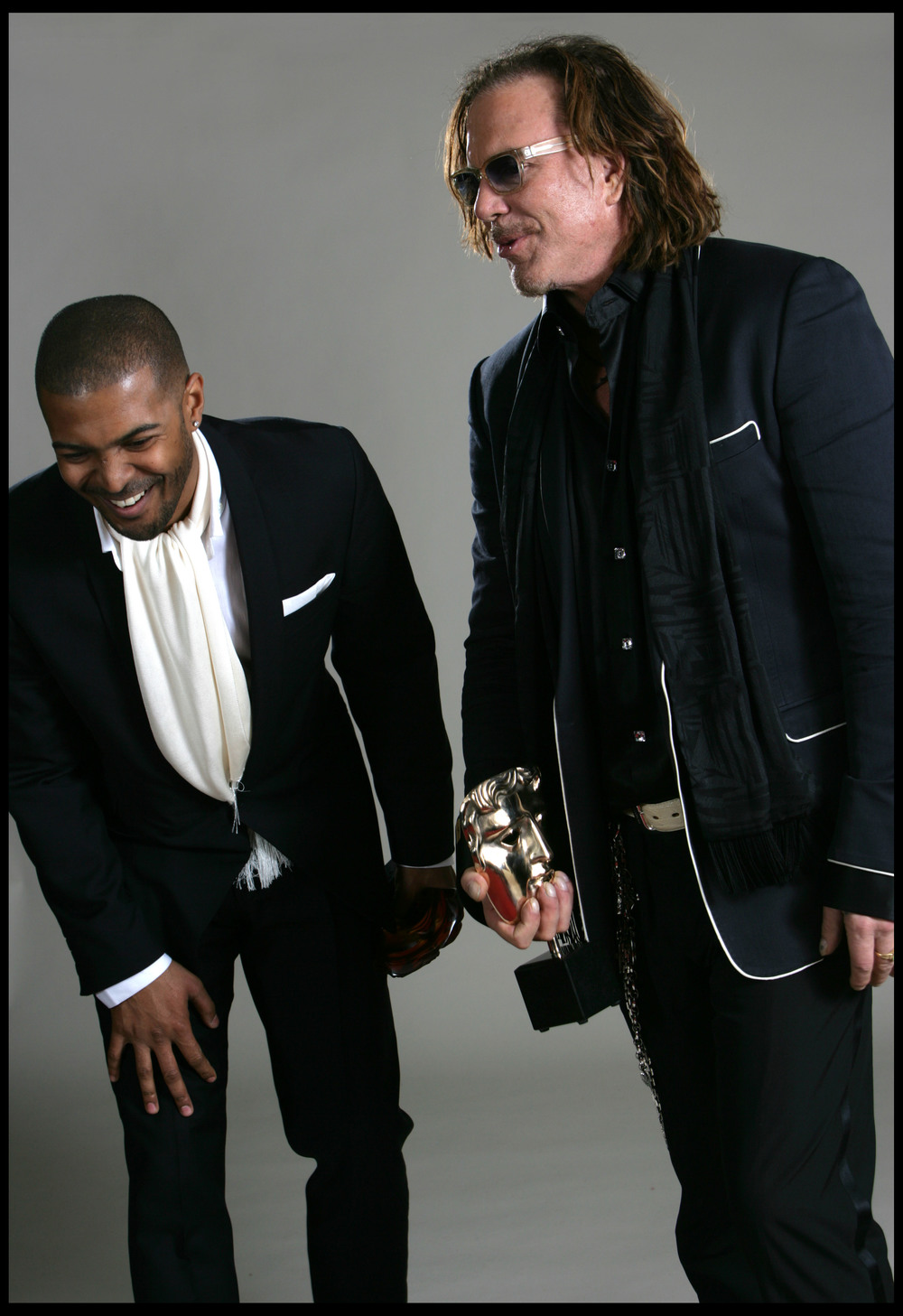 Mickey Rourke & Noel Clarke, actors